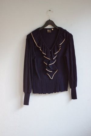 Your Sixth Sense Ruffled Blouse dark blue-gold-colored