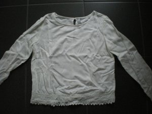 Süße Bluse von Bershka in offwhite in der Gr. XS ******