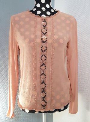 Süße Bluse von H&M, rosé/altrosa, Gr. 34/XS *NEU*