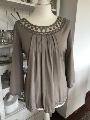 Vero Moda Blusa taglie forti marrone-grigio