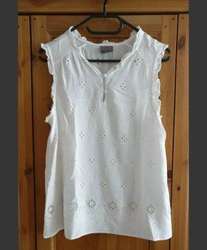 Süße Bluse von Vero Moda, Lochspitze, weiß, ärmellos, NEU, Gr. M