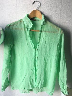Zara Blouse vert menthe-vert