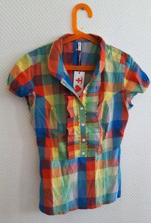 """Süße """"Blutsgeschwister"""" Baumwoll-Bluse im colourblocking Style"""