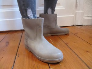 Low boot gris clair cuir