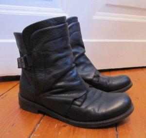 Süße Boots von Buffalo Echtes Leder Schwarz Stiefel 38