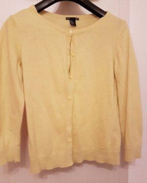 Süße Cardigan-Strickjacke (M) in Gelb von H&M