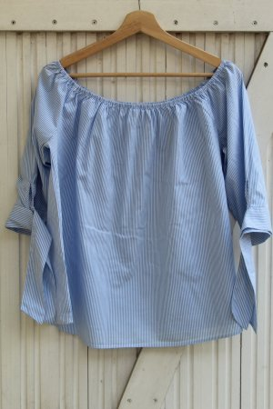 Carmen Blouse blue-white