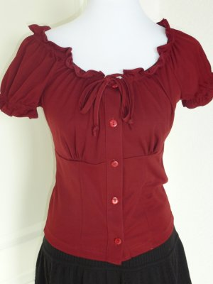 ♥Süße Carmen - Bluse/T- Shirt/bordeauxrot, Gr. 36/S♥