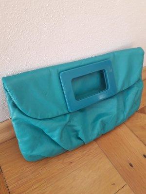 H&M Pochette turquoise polyuréthane