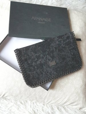 Apanage Borsa clutch nero-grigio