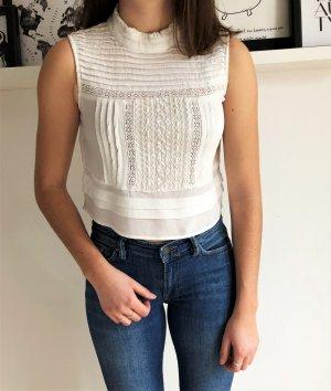 Süße Crop Bluse von Zara
