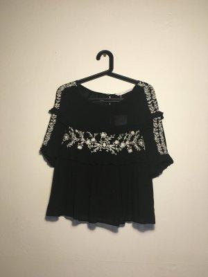 Süße Cropped Bluse im Boho Style