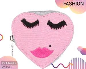 süße Emma Lomax Geldbörse rosa Herz Gesicht *NEU* !