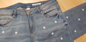 edc by Esprit Stretch jeans wit-lichtblauw Gemengd weefsel