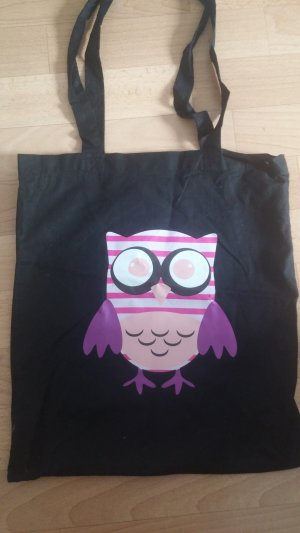Burlap Bag black-pink