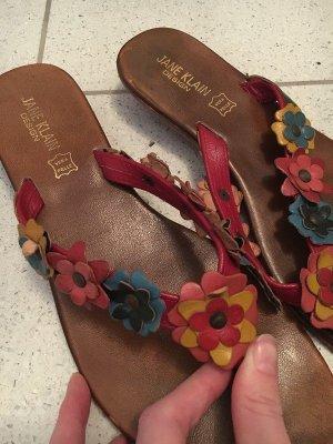 süsse Flip Flops Blumen Jane Klain Gr. 40 braun