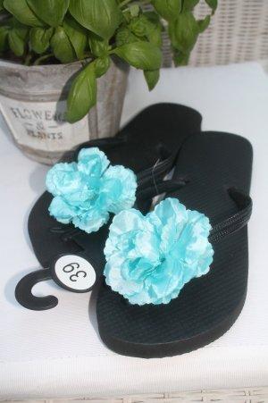 süsse Flip Flops mit Blume * Blüte * NEU *