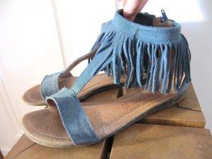 Süße Fransen Sandalen Hippie Wildleder
