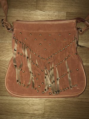 Marco Tozzi Fringed Bag cognac-coloured-gold-colored