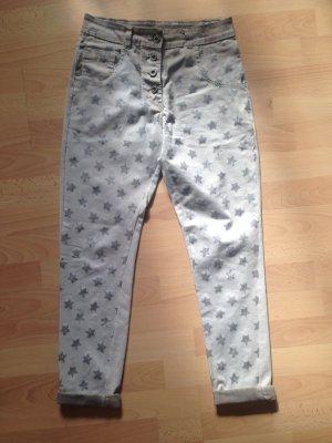 Boyfriend Trousers silver-colored-oatmeal