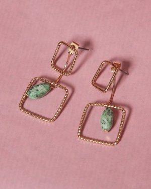 Süße gold-türkise Ohrringe von I am NEU