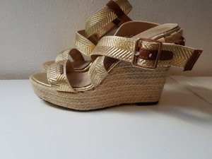 Cassis Wedge Sandals gold-colored-oatmeal