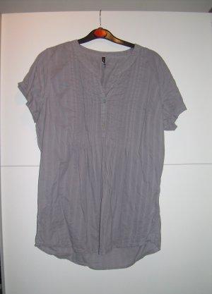 süße graue Bluse von Fishbone in XL 42 kurzarm
