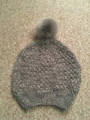 Only Sombrero de punto gris-gris claro