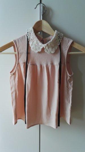 Süße H&M Bluse mit Spitzenkragen