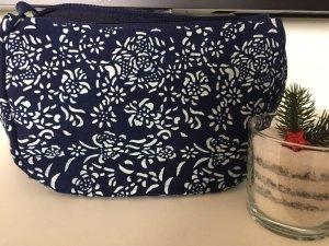 Crossbody bag dark blue-white