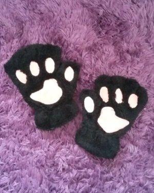 Süsse Handschuhe Katze