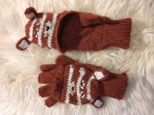 Süße Handschuhe zum Aufklappen mit Fuchsohren