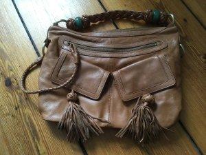 Süße Handtasche, Echt Leder, Luxuslabel Shanghai Tang, braun