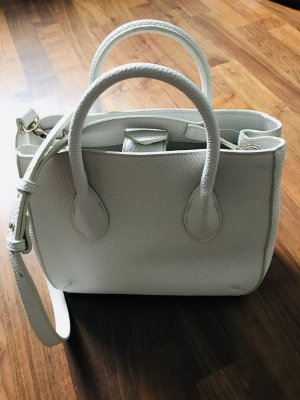 Zara Basic Sac Baril blanc faux cuir
