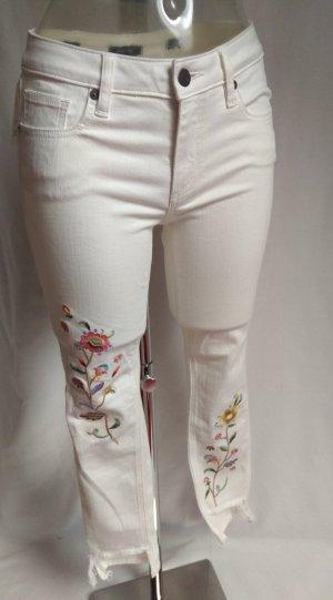 süße high waist Jeans Stickereien Blumen!Neu mit Etikett!