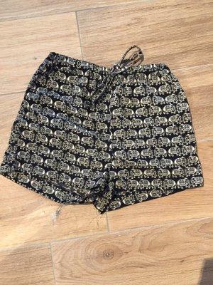 Süße highrise Stoff-Shorts mit Elefantenmuster, Gr. M