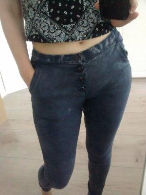 Jeans carotte gris ardoise