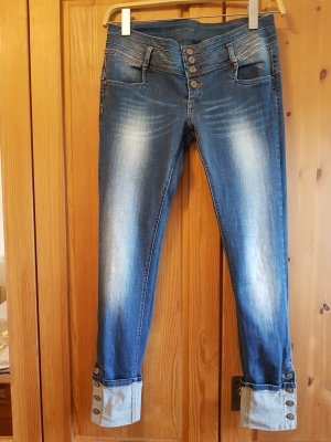 Guess Jeans 7/8-jeans leigrijs-staalblauw