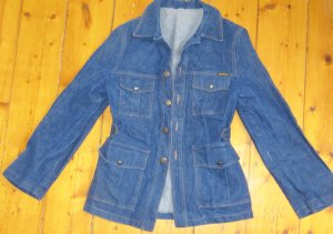 Denim Blazer blue cotton