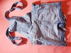 Pantalón corto tipo peto azul claro-azul