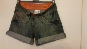 Süße Jeansshort Gr. 36 graublau