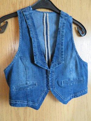 C&A Smanicato jeans blu scuro-blu Cotone