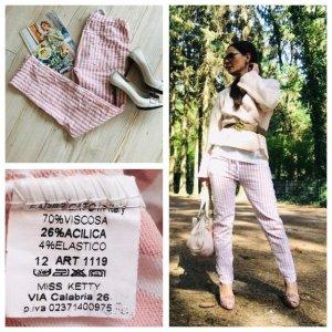 Believe-e Pantalon «Baggy» blanc cassé-vieux rose