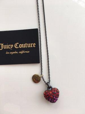 süße Juicy Couture Herz Kette - Straß Steinchen neu m. Herzkästchen