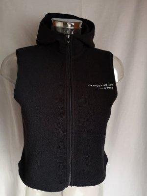 DKNY Jeans Chaleco con capucha negro