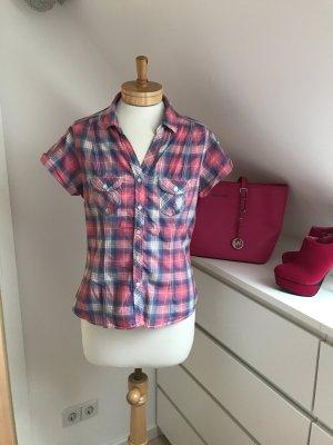 Süße Karo-Bluse von H&M * kurzarm * pink-blau