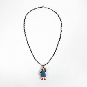 Collier incrusté de pierres multicolore