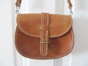 Süße kleine alte Tasche Echtes Leder Vintage Oldschool Students Öko