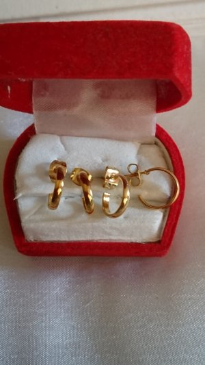 no name Ear Hoops gold-colored