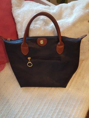 Süsse kleine Tasche, braun-blau